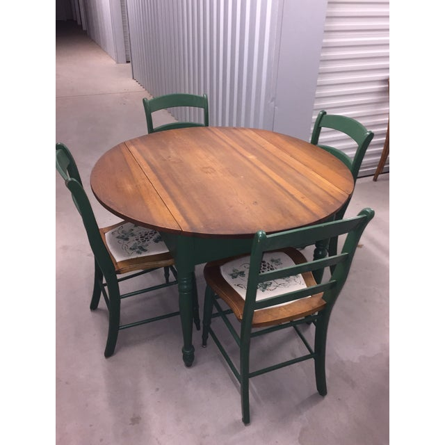 Kitchen Table And Chairs Ireland: Antique Kitchen Table With Hand Painted Chairs