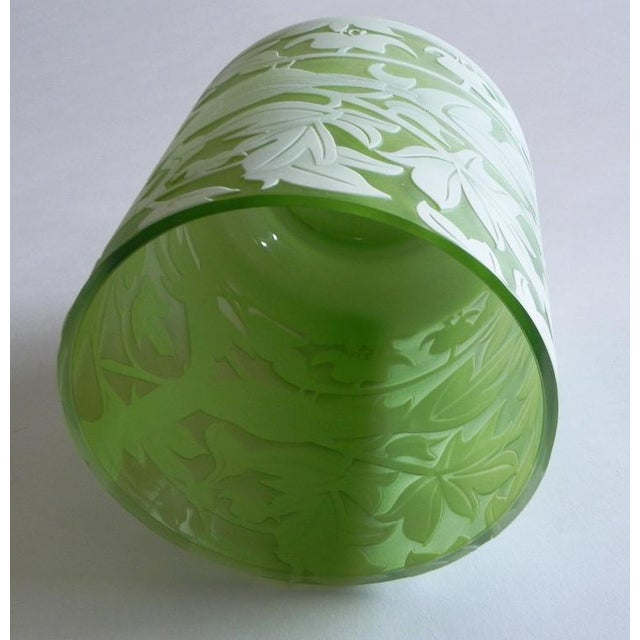 Traditional Global Views Emma's Bird Green Glass Vase For Sale - Image 3 of 7