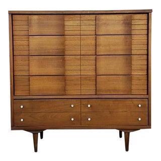 1960s Vintage Formica Top Highboy Dresser For Sale