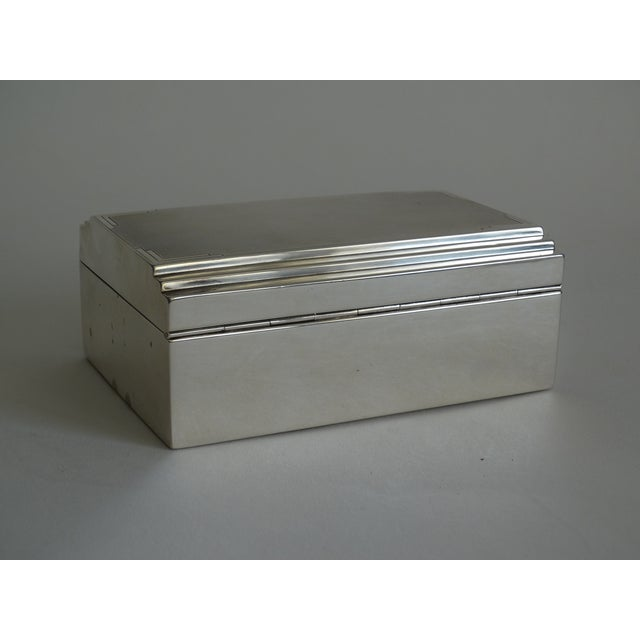 Art Deco Sterling Silver Table Box For Sale In Houston - Image 6 of 10