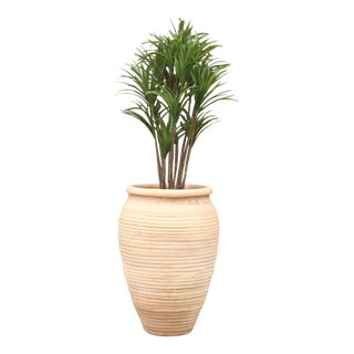 Rustic Egyptian Terra Cotta Planter For Sale