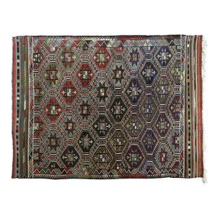 Vintage Turkish Kilim Rug-6′1″ × 8′6″ For Sale
