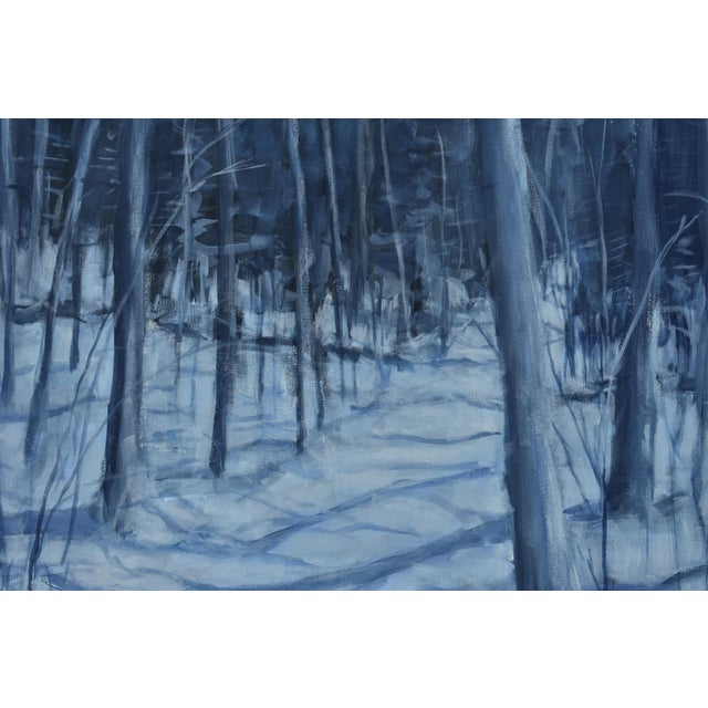 """2010s Stephen Remick """"Silent Moonlight"""" Contemporary Expressionist Landscape Painting For Sale - Image 5 of 9"""