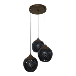 3 Hanging Pendant Light Chandelier For Sale