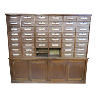 Antique French Notary Cabinet For Sale