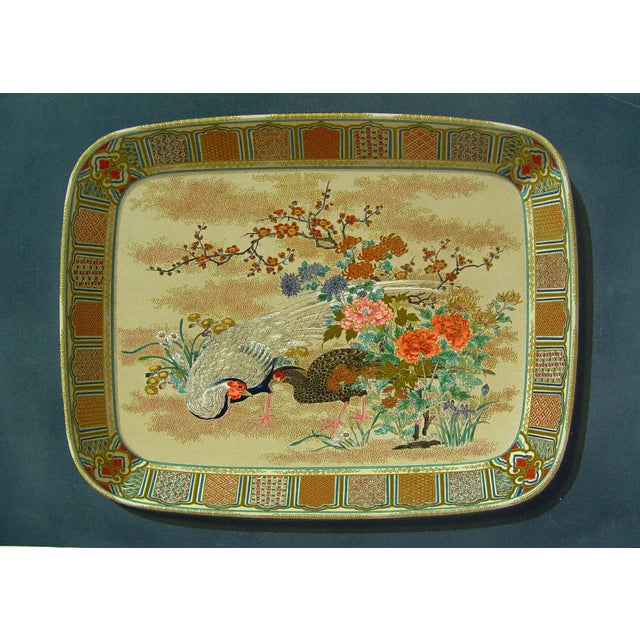 Late 19th Century Antique French Lithograph of Satsuma Platter For Sale - Image 5 of 5