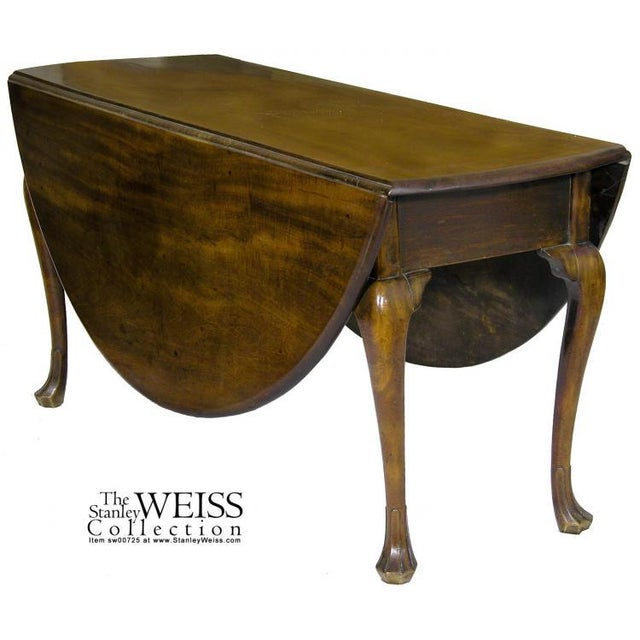 Mahogany Queen Anne Oval Dropleaf Table with Trifid Feet - Image 2 of 5