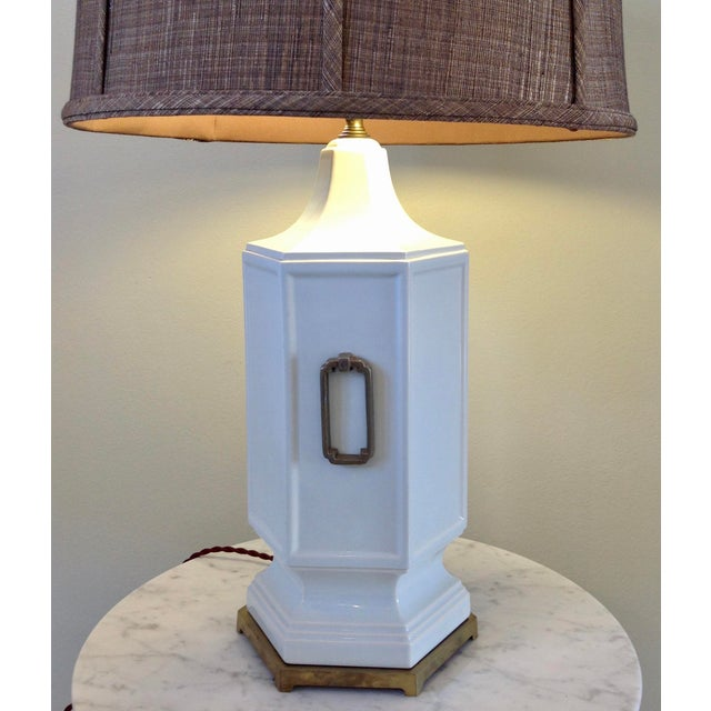 Asian Inspired Mid-Century Table Lamp - Image 9 of 9