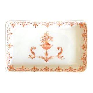 Antique French Limoges Porcelain Trinket Dish For Sale
