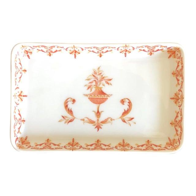 Antique French Limoges Porcelain Trinket Dish For Sale