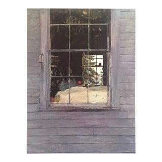 "Andrew Wyeth Rare Vintage 1976 Realist Large Fine Art Lithograph Print "" Geraniums "" 1960 For Sale"