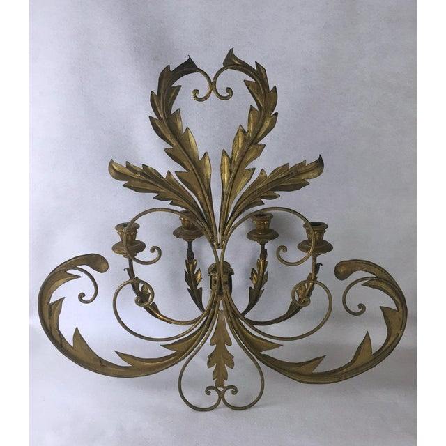 1940s Hollywood Regency Candle Sconce For Sale - Image 5 of 11