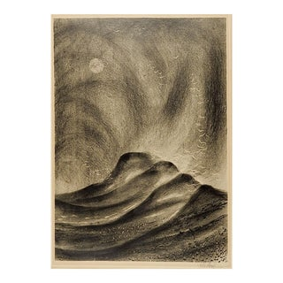 Modernist Storm Wpa Style Lithograph For Sale