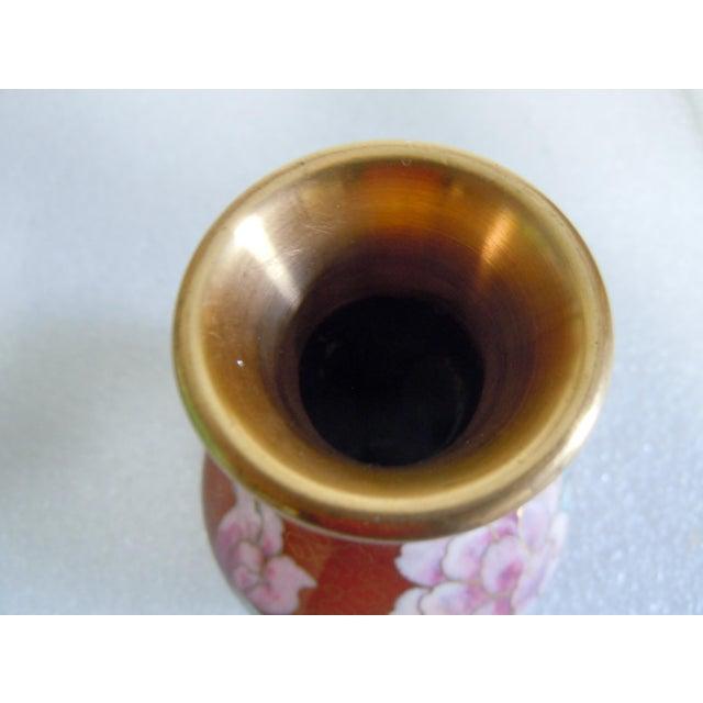 Asian Style Cloisonné Bulbous Vase For Sale - Image 4 of 5