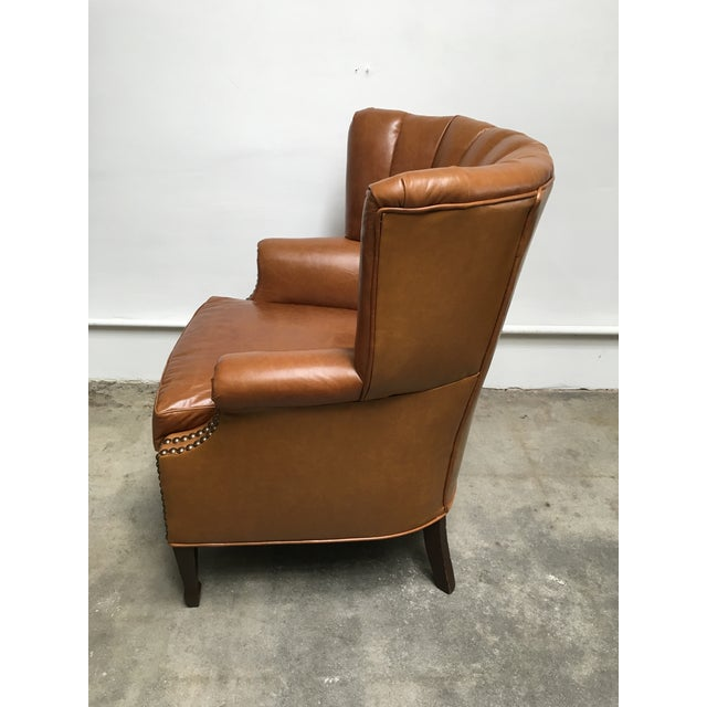 1940s 1940s Unique Channel Back Bucket Wing Chair For Sale - Image 5 of 13