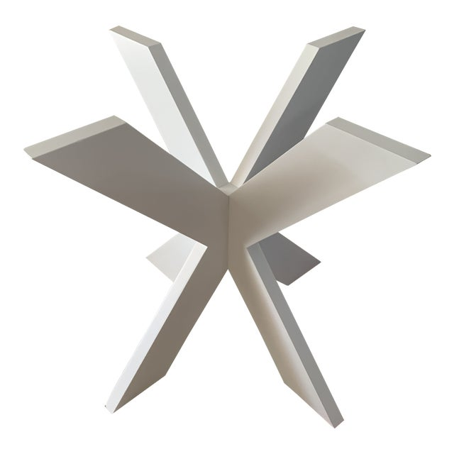 White Lacquer X Table Base For Sale