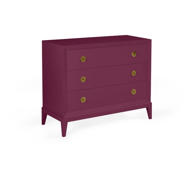 Transitional Casa Cosima Hayes Dresser Chest, Grape Juice For Sale - Image 3 of 3