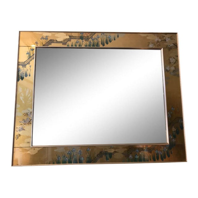 1980s Contemporary Mirror With Floral Edge For Sale In Dallas - Image 6 of 6