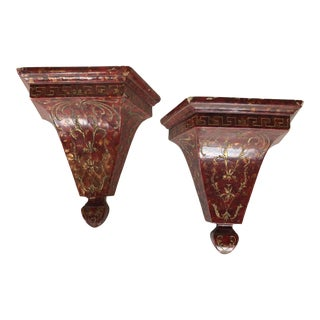 Vintage Italian Wall Brackets - a Pair For Sale