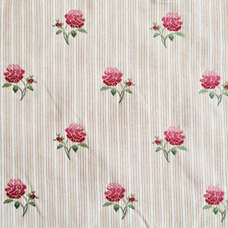 Old World Weavers Petit Fleur Stipe Designer Fabric by the Yard For Sale