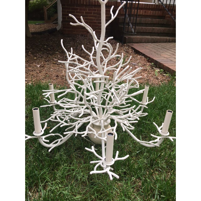 Currey and Company Seaward Faux Coral Chandelier - Image 3 of 5