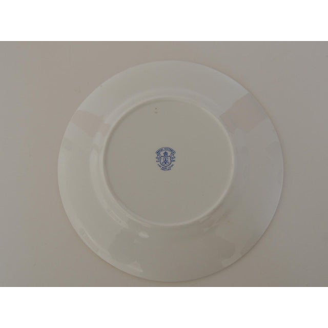 English Royal Victoria English White and Pink Bone China Dessert Plate For Sale - Image 3 of 6