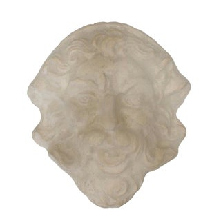 Molded Concrete Sculptural Wall Mask For Sale