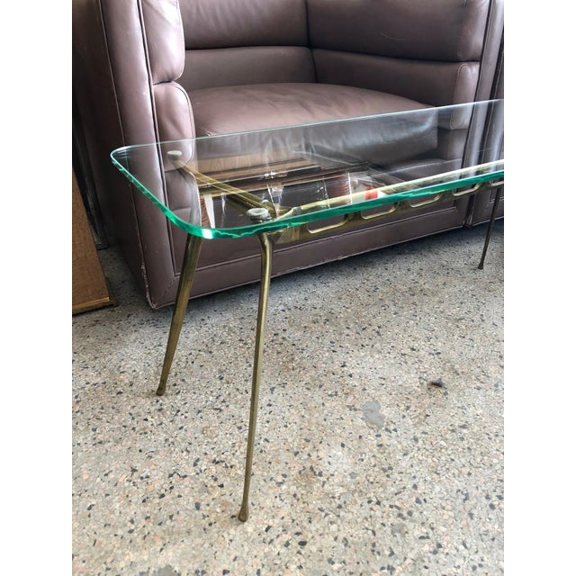 Cesare Lacca Glass Top Brass Cocktail Table For Sale - Image 9 of 11