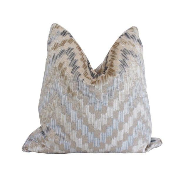 Transitional Scalamandre Ankara Pillow, Cloud For Sale - Image 3 of 3