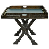 Image of Antique Italian Renaissance Carved Walnut Tray Table For Sale