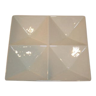 Kaj Franck for Arabia Origami Form Ceramic Tray For Sale