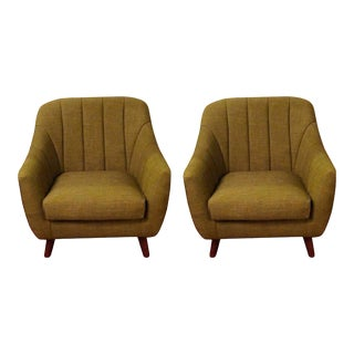 Mid Century Modern Style Oversized Chairs - a Pair For Sale