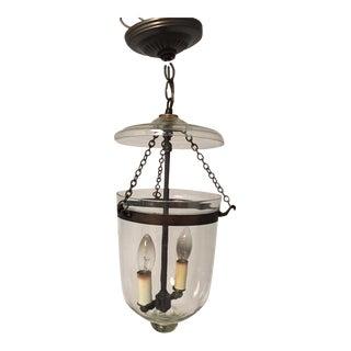 Smooth Glass 2 Light Jar Pendant Light