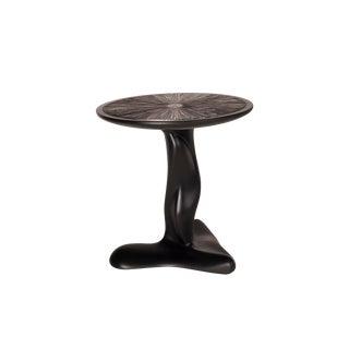 Amorph Helios Black Matte Lacquer Side Table For Sale