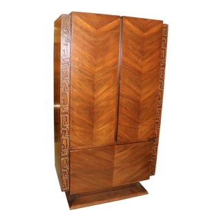 1970s Mid Century Modern Brutalist Armoire For Sale