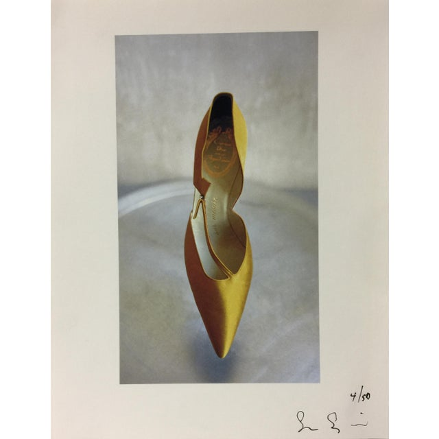 1958 Christian Dior Couture Shoe, Susan Salinger Photograph, 1997 For Sale - Image 4 of 4