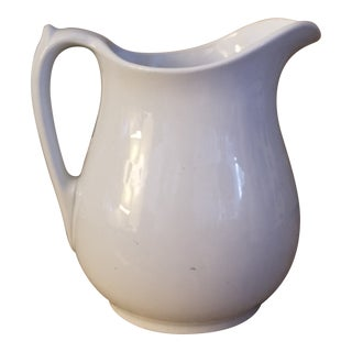 Goddard English Large White Ironstone Royal Patent Pitcher For Sale