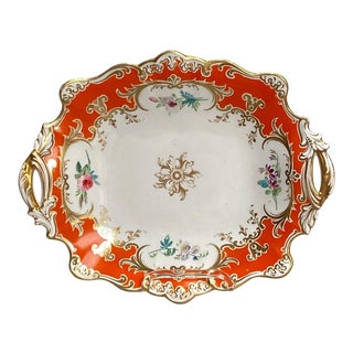 English Porcelain 2 Handled Dish For Sale