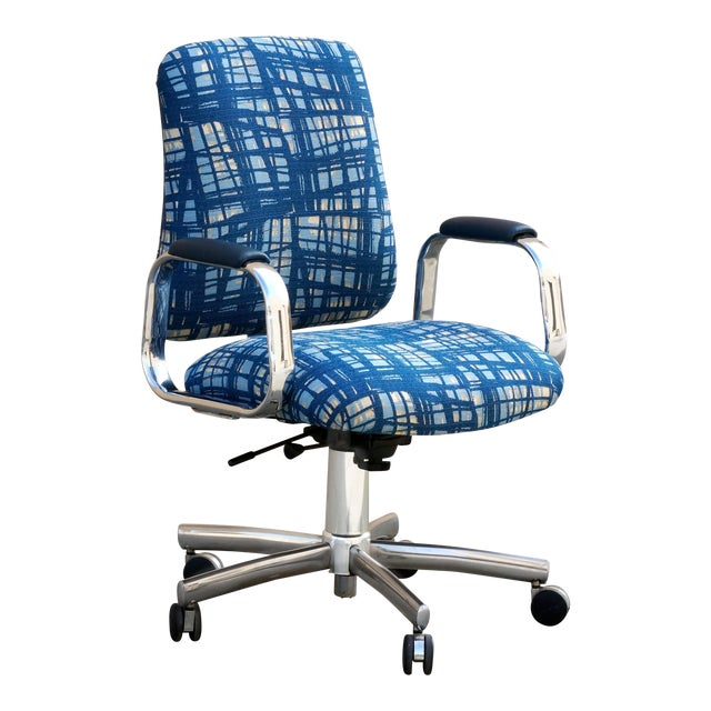 Vintage SteelCase Executive Steno Armchair, Refinished For Sale