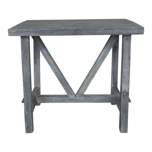 Customizable Reclaimed Wood Side Table For Sale