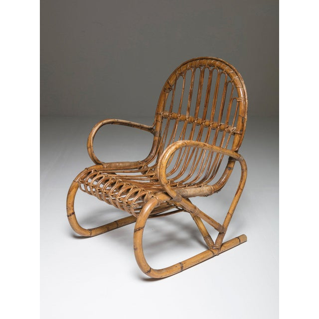 Compact and extremely comfortable set of two wicker chairs.