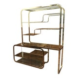 Image of Mid Century Brass & Glass Etagere by Milo Baughman For Sale