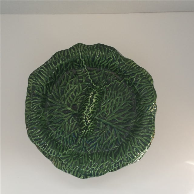 Green Covered Lettuce Ware Bowl - Image 3 of 7