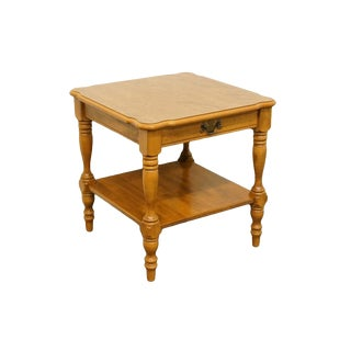 "Ethan Allen Heirloom Nutmeg Maple 23"" Square End Table For Sale"