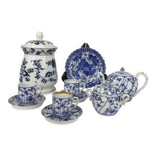 Collection of Blue and White China For Sale