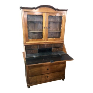 Antique Early 19c Biedermeier Secretary Desk For Sale