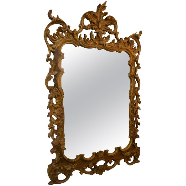 La Barge Chippendale Rococo Style Carved Wood Wall Mirror For Sale