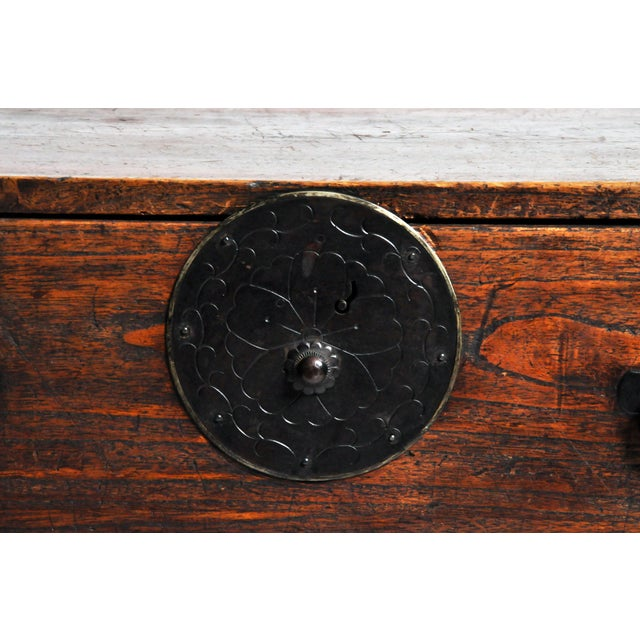 Japanese Tansu With Black Color Hardware For Sale - Image 10 of 13