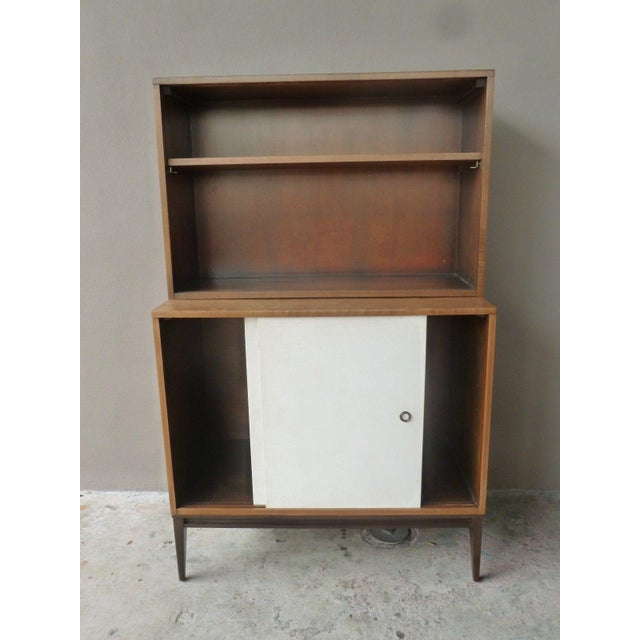 Mid-Century Modern 1950's Vintage Planner Group Paul McCobb Restored 2 Tier Cabinet For Sale - Image 3 of 9