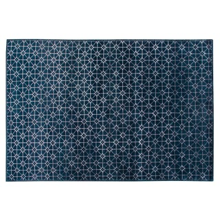 Stark Studio Rugs Contemporary New Oriental 80% Wool/20% Viscose Rug - 6′ × 8′9″ For Sale